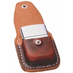 Lighter Pouch with Clip - Brown-Engravable