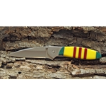 Kershaw Leek with Vietnam War Ribbon Stone Handle