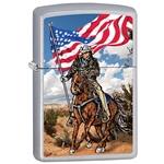 Zippo Cowboy on Horse with Flag