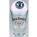 Jack Daniels Shot Glass with Golf Ball 8514