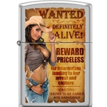 Zippo Cowgirl With Pistol