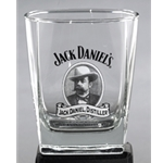 Jack Daniels Cameo Logo Double Old Fashioned Glass 5236