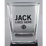 Jack Daniels Jsck Lives Here Double Old Fashioned Glass 5237